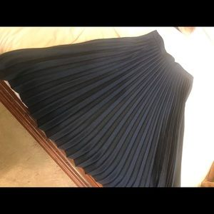 Zara Pleated Skirt size M, Navy color